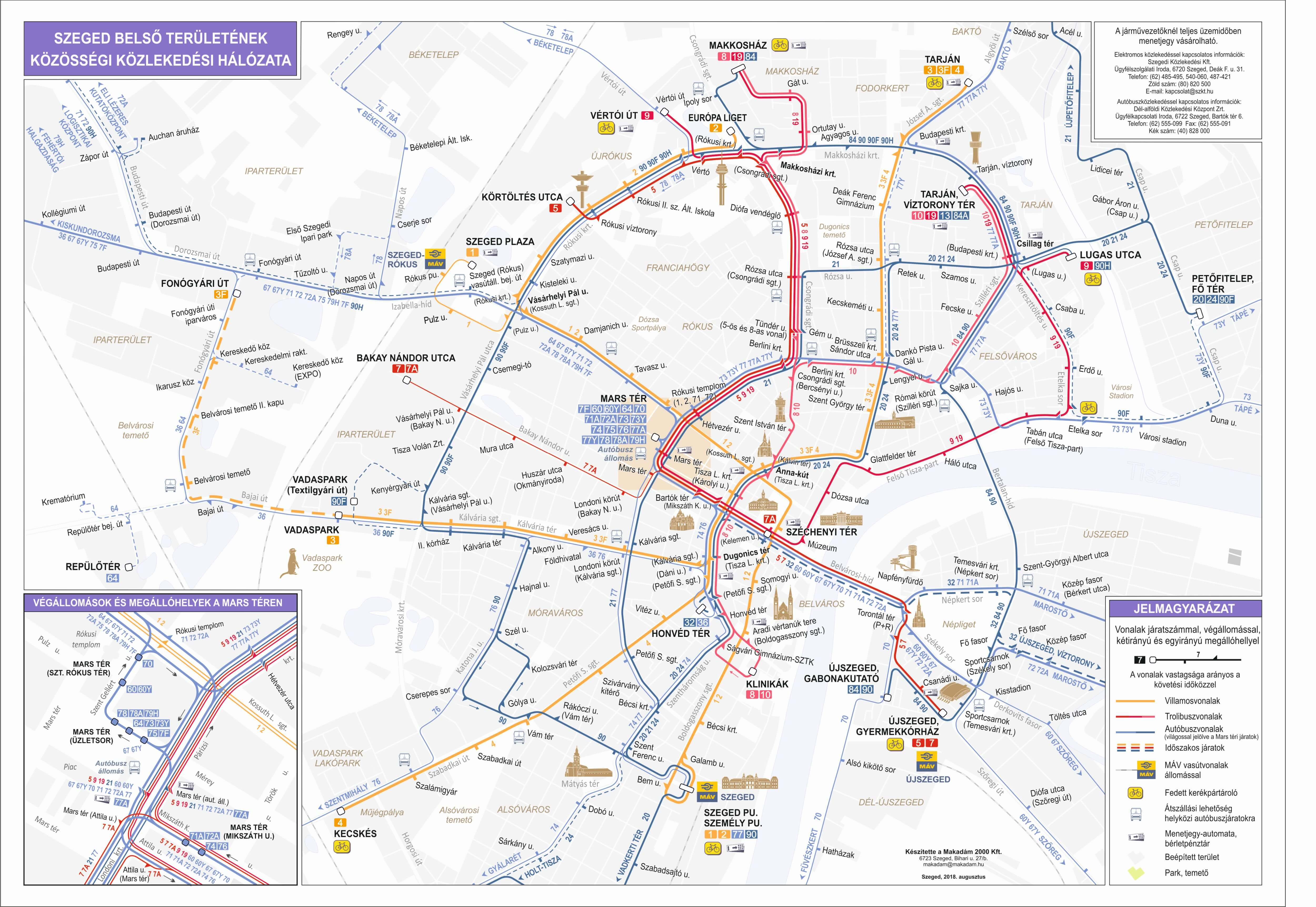 Vonalhalozat Szegedi Kozlekedesi Tarsasag